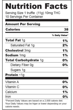 nutrition-facts-label-Dark Truffles-01