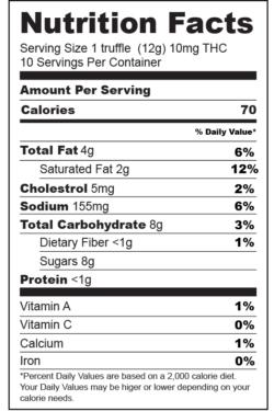 nutrition-facts-label-Milk Caramel Truffles-01